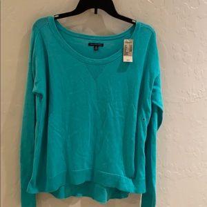 American Eagle Light Blue Sweater Sz Medium NWT
